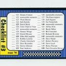 1991 Maxx Racing #239 Checklist 121-180