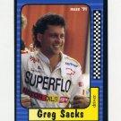 1991 Maxx Racing #018 Greg Sacks