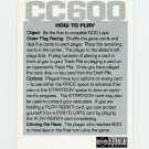 1998 Collector's Choice CC600 Racing #NNO Instruction Card