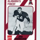 1989 Alabama Coke 580 Football #577 Jim Simmons T - Alabama Crimson Tide