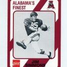 1989 Alabama Coke 580 Football #576 Jim Simmons TE - Alabama Crimson Tide