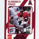 1989 Alabama Coke 580 Football #574 Willie Shepherd - Alabama Crimson Tide