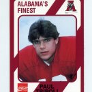 1989 Alabama Coke 580 Football #568 Paul Tripoli - Alabama Crimson Tide