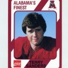1989 Alabama Coke 580 Football #555 Terry Sanders - Alabama Crimson Tide