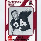 1989 Alabama Coke 580 Football #552 Bill Richardson - Alabama Crimson Tide