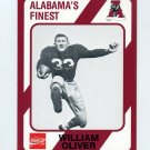 1989 Alabama Coke 580 Football #535 William Oliver - Alabama Crimson Tide