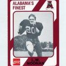 1989 Alabama Coke 580 Football #533 L.W. Noonan - Alabama Crimson Tide