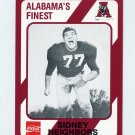 1989 Alabama Coke 580 Football #529 Sidney Neighbors - Alabama Crimson Tide