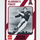 1989 Alabama Coke 580 Football #527 Norris Hamer - Alabama Crimson Tide