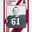 1989 Alabama Coke 580 Football #520 Fred Mims - Alabama Crimson Tide