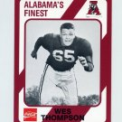 1989 Alabama Coke 580 Football #517 Wes Thompson - Alabama Crimson Tide