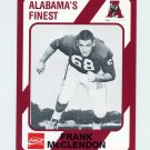 1989 Alabama Coke 580 Football #512 Frank McClendon - Alabama Crimson Tide