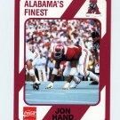 1989 Alabama Coke 580 Football #500 Jon Hand - Alabama Crimson Tide