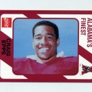 1989 Alabama Coke 580 Football #496 Craig Epps - Alabama Crimson Tide