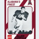 1989 Alabama Coke 580 Football #478 Allen Harpole - Alabama Crimson Tide