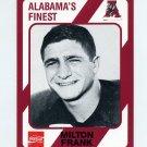 1989 Alabama Coke 580 Football #466 Milton Frank - Alabama Crimson Tide
