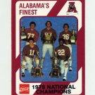 1989 Alabama Coke 580 Football #461 The 1978 National Champions