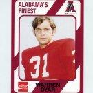 1989 Alabama Coke 580 Football #458 Warren Dyar - Alabama Crimson Tide