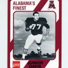 1989 Alabama Coke 580 Football #457 Junior Davis - Alabama Crimson Tide