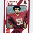 1989 Alabama Coke 580 Football #452 Gary Deniro - Alabama Crimson Tide