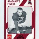 1989 Alabama Coke 580 Football #448 Jim Davis - Alabama Crimson Tide