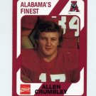 1989 Alabama Coke 580 Football #445 Allen Crumbley - Alabama Crimson Tide