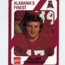 1989 Alabama Coke 580 Football #445 Allen Crumbley - Alabama Crimson Tide