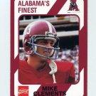 1989 Alabama Coke 580 Football #435 Mike Clements - Alabama Crimson Tide