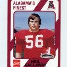 1989 Alabama Coke 580 Football #427 Neil Callaway - Alabama Crimson Tide