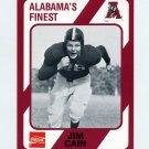 1989 Alabama Coke 580 Football #425 Jim Cain - Alabama Crimson Tide