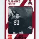 1989 Alabama Coke 580 Football #423 Jim Burkett - Alabama Crimson Tide