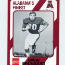 1989 Alabama Coke 580 Football #422 David Brungard - Alabama Crimson Tide