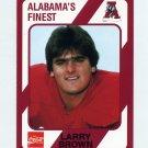 1989 Alabama Coke 580 Football #421 Larry Brown - Alabama Crimson Tide
