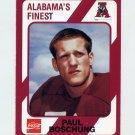 1989 Alabama Coke 580 Football #417 Paul Boschung - Alabama Crimson Tide