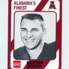 1989 Alabama Coke 580 Football #416 Baxter Booth - Alabama Crimson Tide