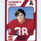 1989 Alabama Coke 580 Football #412 Duffy Boles - Alabama Crimson Tide