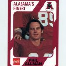 1989 Alabama Coke 580 Football #405 Phil Allman - Alabama Crimson Tide