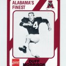 1989 Alabama Coke 580 Football #398 Duff Morrison - Alabama Crimson Tide