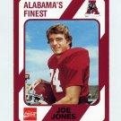 1989 Alabama Coke 580 Football #395 Joe Jones - Alabama Crimson Tide