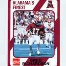 1989 Alabama Coke 580 Football #394 Greg Richardson - Alabama Crimson Tide