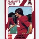 1989 Alabama Coke 580 Football #384 Jack O'Rear - Alabama Crimson Tide