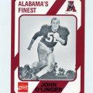 1989 Alabama Coke 580 Football #364 John O'Linger - Alabama Crimson Tide