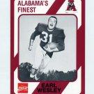1989 Alabama Coke 580 Football #363 Earl Wesley - Alabama Crimson Tide