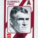 1989 Alabama Coke 580 Football #355 Hank Crisp CO - Alabama Crimson Tide