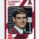 1989 Alabama Coke 580 Football #349 Frank Canterbury - Alabama Crimson Tide