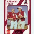 1989 Alabama Coke 580 Football #325 Jimmy Fuller / Bear Bryant - Alabama Crimson Tide