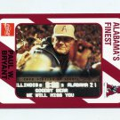 "1989 Alabama Coke 580 Football #323 Paul ""Bear"" Bryant CO - Alabama Crimson Tide"