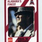 "1989 Alabama Coke 580 Football #315 Paul ""Bear"" Bryant CO - Alabama Crimson Tide"