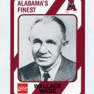 1989 Alabama Coke 580 Football #306 Wallace Wade CO - Alabama Crimson Tide