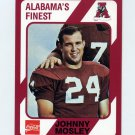 1989 Alabama Coke 580 Football #302 Johnny Mosley - Alabama Crimson Tide